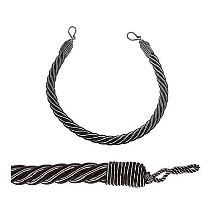 Gordijn kabel embrasse 23 mm grijs