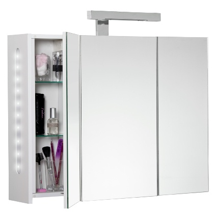 Armoire de toilette 'Twilight' 3 portes 80 cm