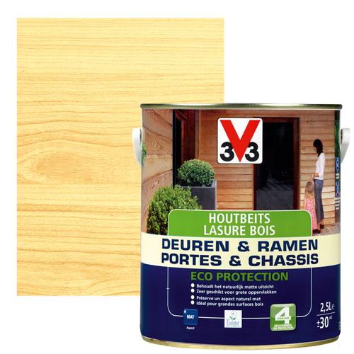 Lasure bois V33 'Portes & châssis' naturel 2,5L