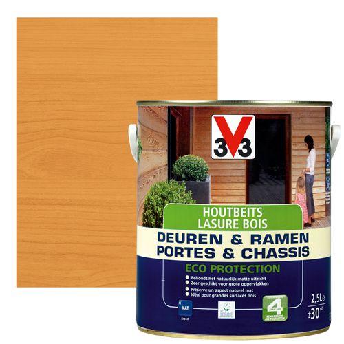 Lasure V33 'Portes & Chassîs Eco Protection' chêne moyen mat 2,5L