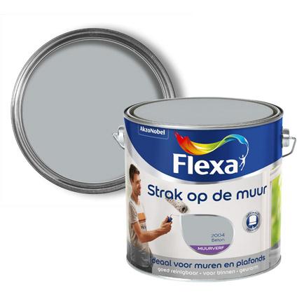 Flexa Strak Op De Muur muurverf mat Beton 2,5L