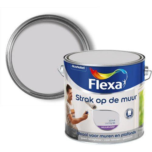 Flexa Strak Op De Muur muurverf mat Lichtgrijs 2,5L