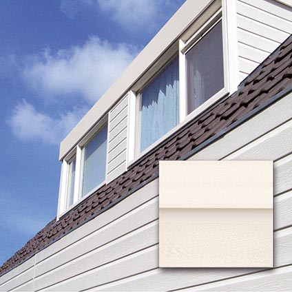 Revêtement de façade HDM 'Outdoor' PVC blanc cassé 9 mm