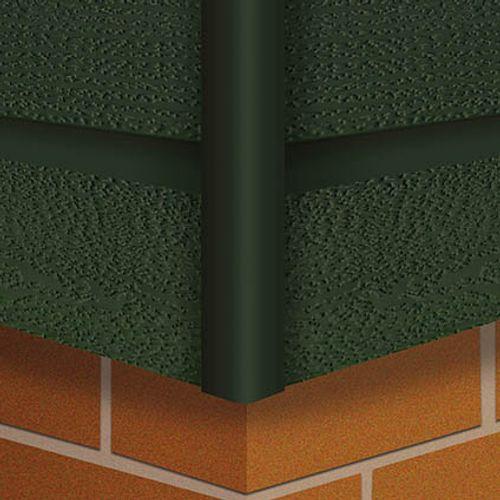 HDM hoekprofiel 'Outdoor' groen 40 mm