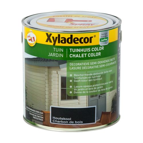 Xyladecor houtbeits 'Tuinhuis Color' houtskool mat 2,5L