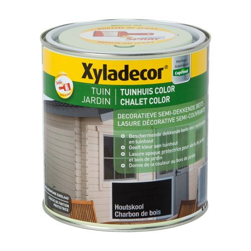 Produit de protection de bois Xyladecor 'Chalet color charbon de bois mate 1L