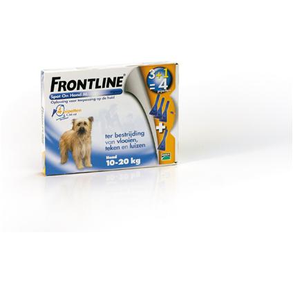 Frontline spot on hond medium 10-20kg 4 pip
