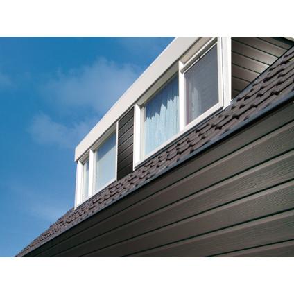 Revêtement de façade HDM 'Outdoor' PVC anthracite 9 mm