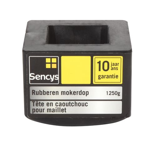 Sencys rubberen mokerdop 1,25 kg
