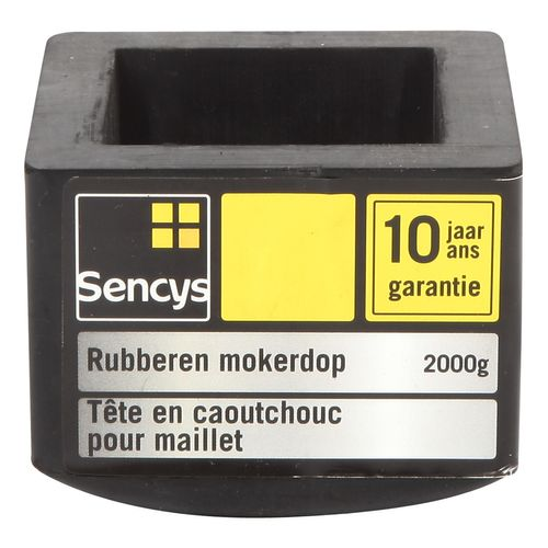 Sencys rubberen mokerdop 2 kg