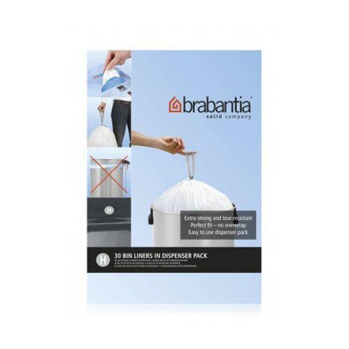 Distributeur sac poubelle Brabantia 'Code H' 50L 40pc