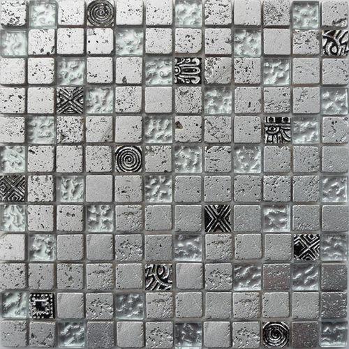 Mozaïek tegel Bo-003 zilver mix 29,5x29,5cm
