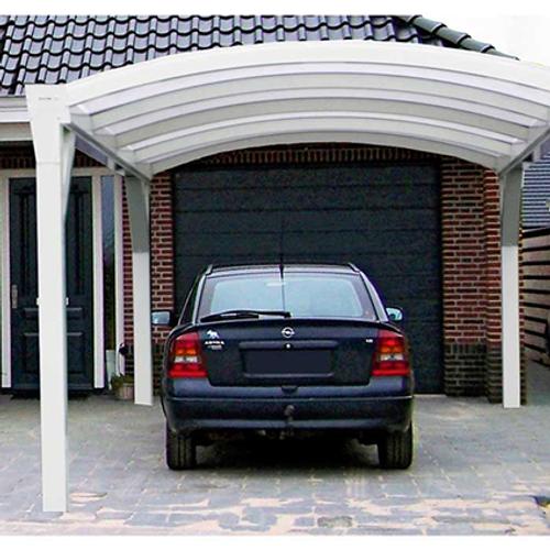 Scala carport in metaal crème helder 3,7 x 4 m