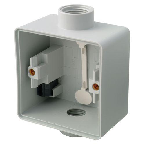Boîtier semi-étanche pour interrupteurs 1 plus 1 entrée Niko