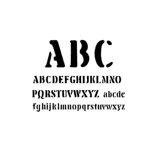 't Stilleven sjabloon letters 4cm