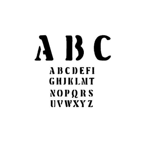 't Stilleven sjabloon letters 7cm