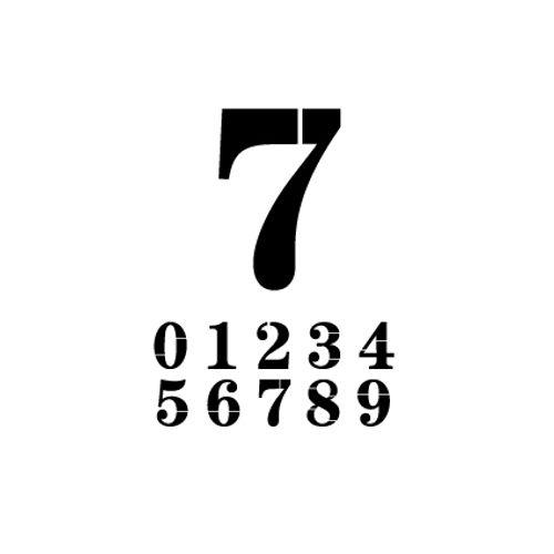 't Stilleven sjabloon cijfer 7