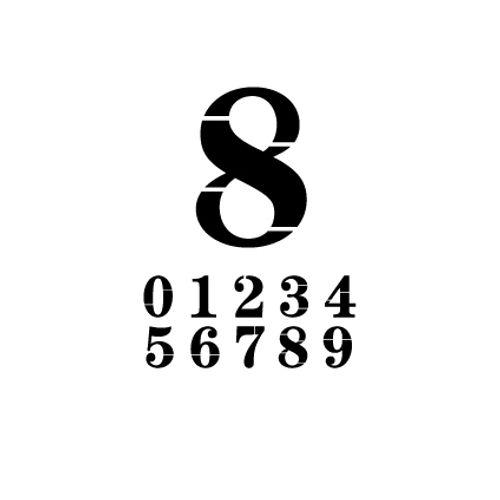 't Stilleven sjabloon cijfer 8