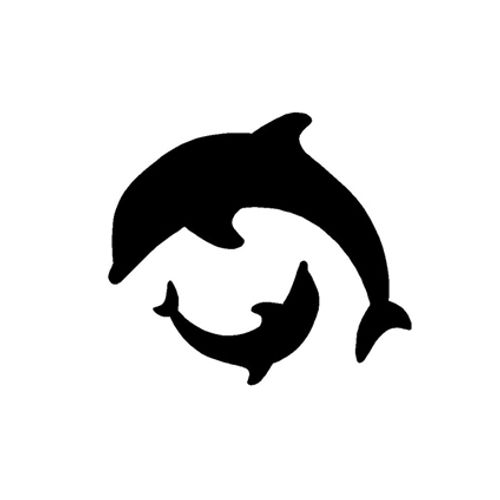 't Stilleven sjabloon dolfijnen
