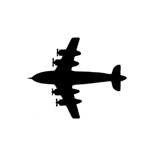 't Stilleven sjabloon vliegtuig