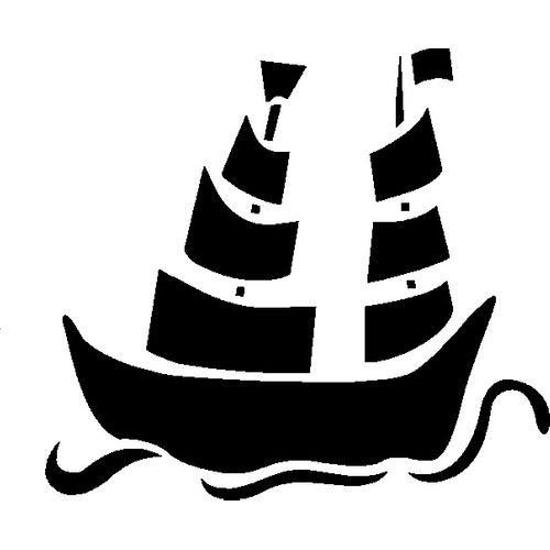 't Stilleven sjabloon piratenschip
