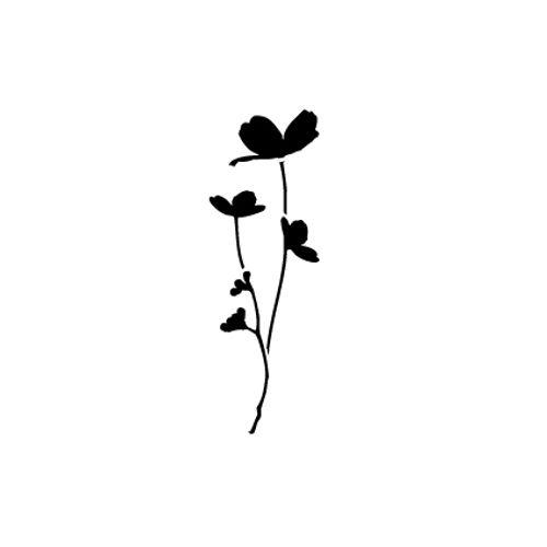 't Stilleven sjabloon bloemen