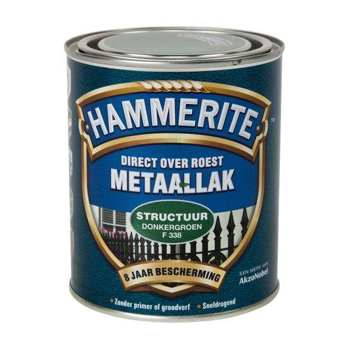 Hammerite metaallak structuur mat donkergroen 750ml