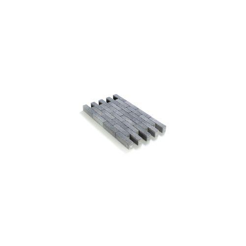 Klinker tambouriné gris noir in-line 20X5X6