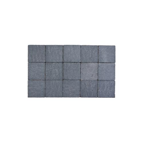 Pavé tambouriné Coeck in-line 15x15x6cm pierre bleue