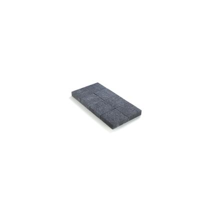 Coeck kassei zwart in-line trommeling 20x20x6cm