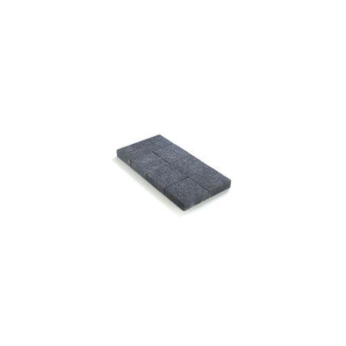 Pavé tambouriné Coeck in-line 20x20x6cm noir