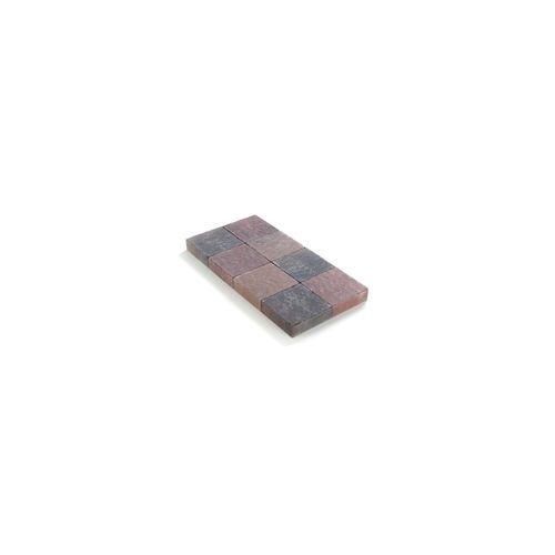 Pavé tambouriné Coeck in-line 20x20x6cm couleurs automnales