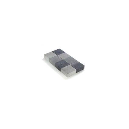 Coeck sierklinker grijs/zwart ongetrommeld 20x20x6cm