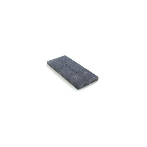 Coeck kassei zwart in-line trommeling 20x30x6cm
