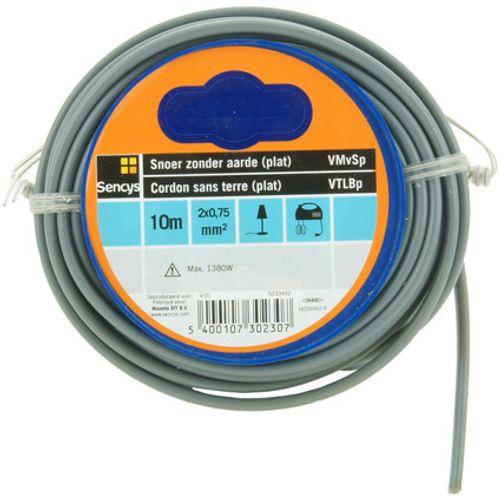 Sencys elektrische kabel 'VTLBp 2G0,75' grijs 10 m