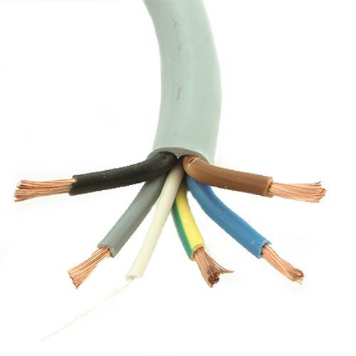 Câble électrique Sencys 'VTM 5G6' gris 3 m