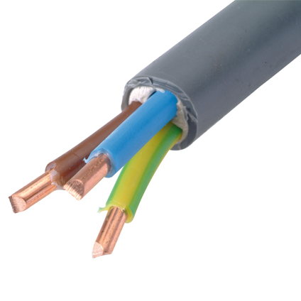 Sencys elektrische kabel 'XVB-F2 3G1,5' grijs 20 m