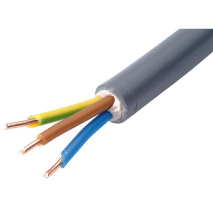Sencys elektrische kabel 'XVB-F2 3G1,5' grijs 50 m