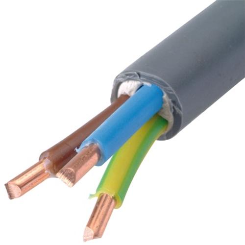 Sencys elektrische kabel 'XVB-F2 3G4' grijs 1 m
