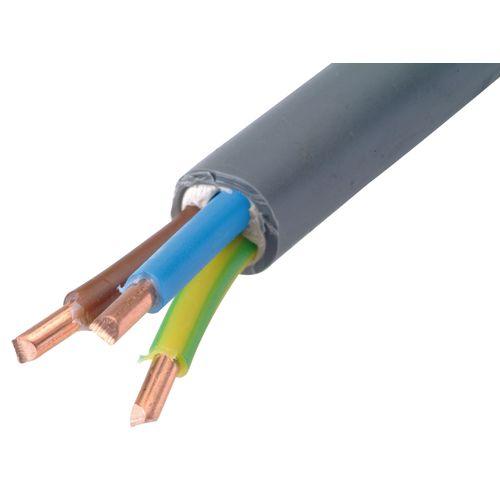 Sencys elektrische kabel 'XVB-F2 3G6' grijs 1 m