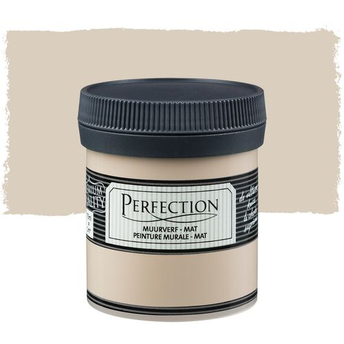 Perfection muurverf tester mat berkbeige 75ml