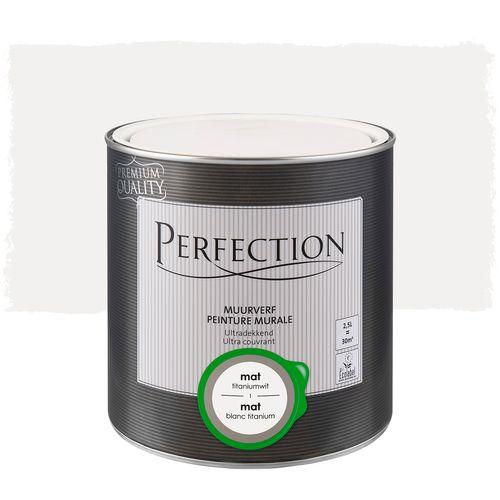 Perfection muurverf Ultradekkend mat titaniumwit 2,5L