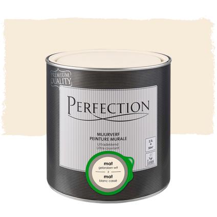 Perfection muurverf ultradekkend mat RAL 9010 2,5L