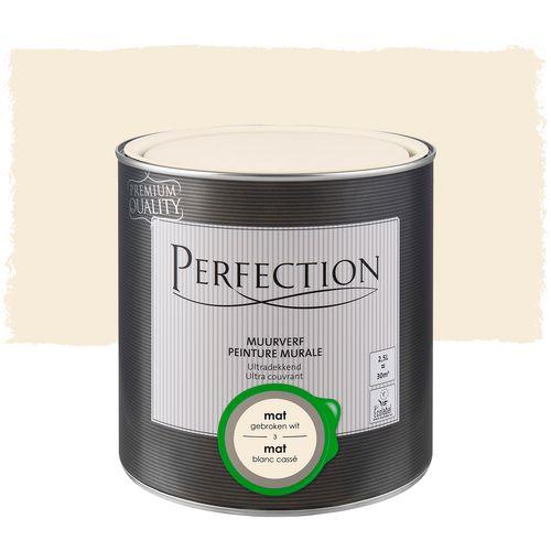 Perfection muurverf Ultradekkend mat gebroken wit 2,5L
