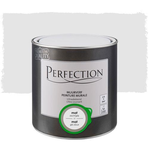 Perfection muurverf ultradekkend mat zachtgrijs 2,5L