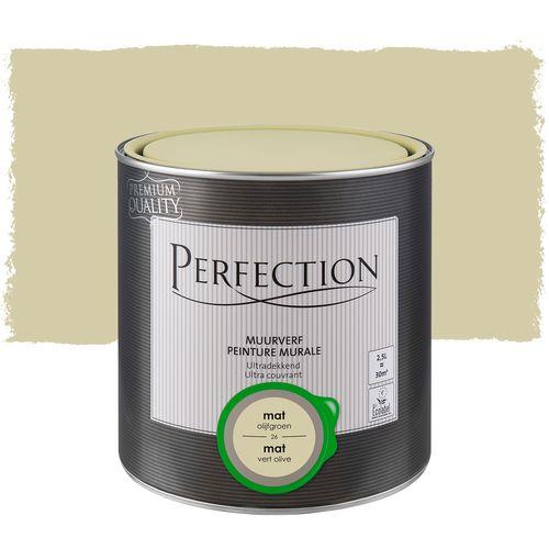 Perfection muurverf ultradekkend mat olijfgroen 2,5L