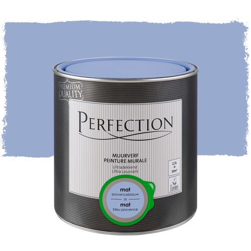 Perfection muurverf ultradekkend mat provenceblauw 2,5L
