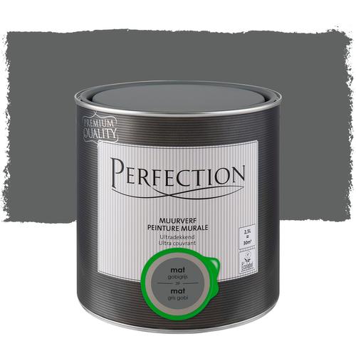 Perfection muurverf ultradekkend mat gobigrijs 2,5L