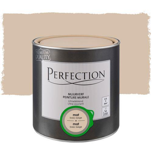 Perfection muurverf ultradekkend mat basic beige 2,5L
