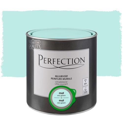 Perfection muurverf ultradekkend mat sea green 2,5L